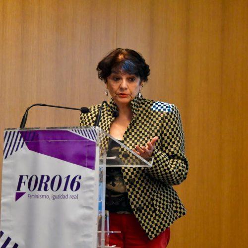 Soledad Murillo durante su charla